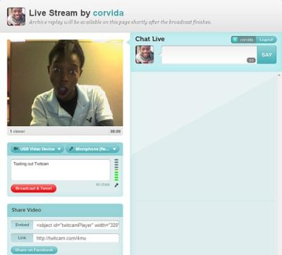 @Corvida on TwitCam - EverythingTwitter.com